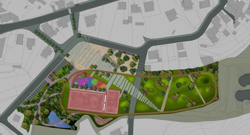 Zona deportiva y parque p blico el blog de la urbana for Plantas ornamentales para parques