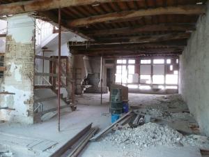 estructura de madera en edificio de viviendas
