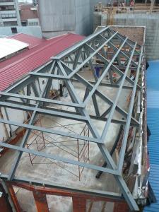 estructura metálica de cubierta cerchas