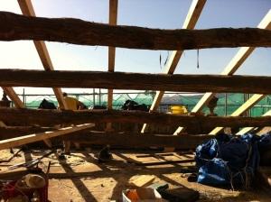 vigas y pontones de madera