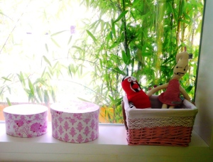 detalle ventana bambú