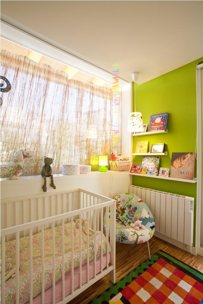 dormitorio niños estanterias