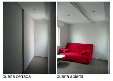 soluciones usos flexibles dormitorio pasillo grandes puertas correderas