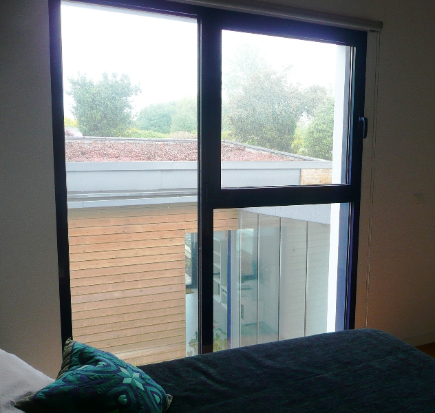 cubierta ecológica desde el dormitorio