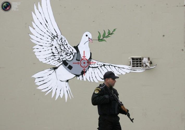 banksy graffiti street art muro cisjordania
