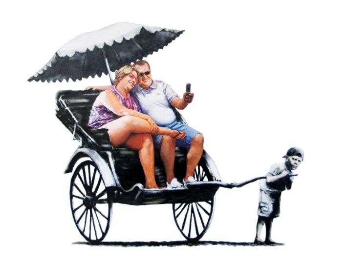 banksy rickshaw