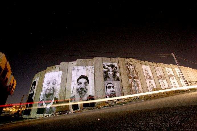 jr edificio fotografia gran formato muro de Cisjordania