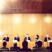 inauguracion del congreso de patogia y rehabilitacion patorreb en santiago con Nuñez Feijoo