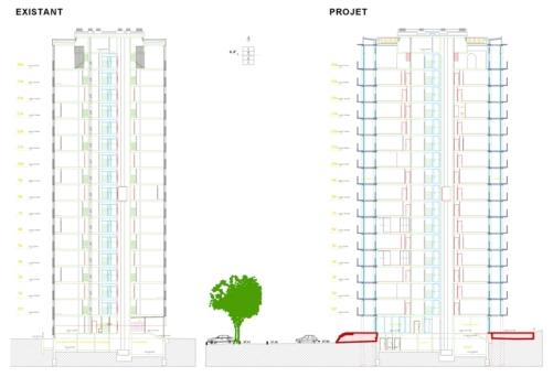 lacaton vassal renovación edificio en paris seccion