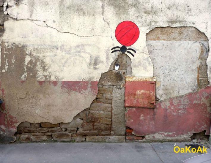 oakoak otarie au ballon