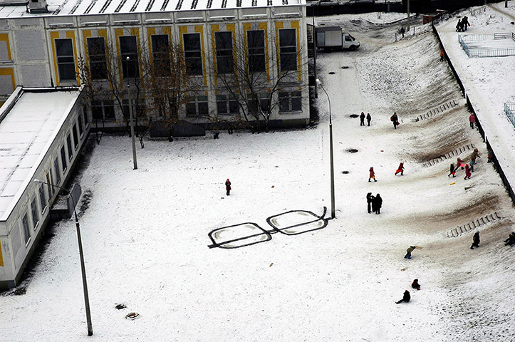 P183 artista callejero rusia