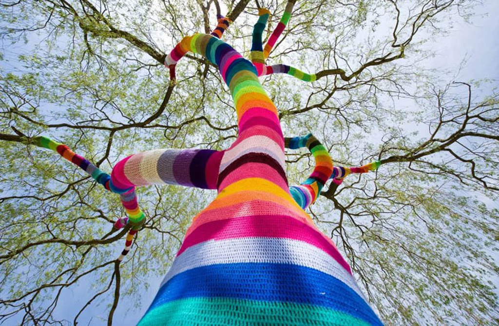 guerrilla crochet  yarn bombing ganchillo urbano