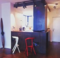 mesa comedor recogida barra madera apartamento pequeño
