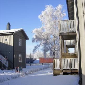 casas modulares prefabricadas ikea boklok apartamentos nieve nevado