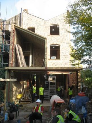 dunollie place Robert Dye rehabilitacion vivienda entre medianeras patio trasero jardín