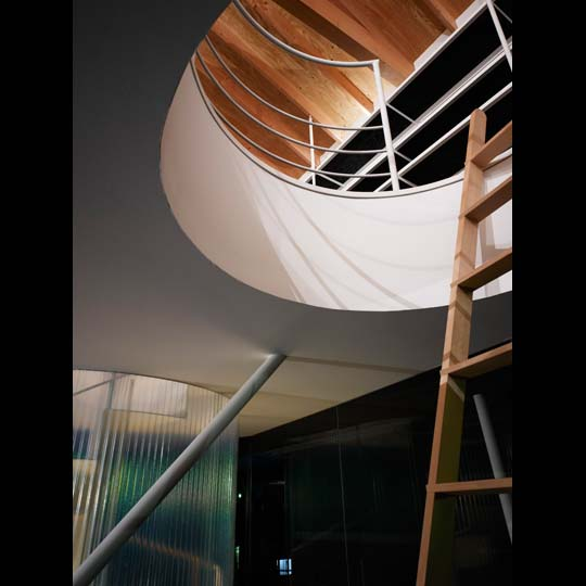 NAF architects & design vivienda unfamiliar japon hueco redondo