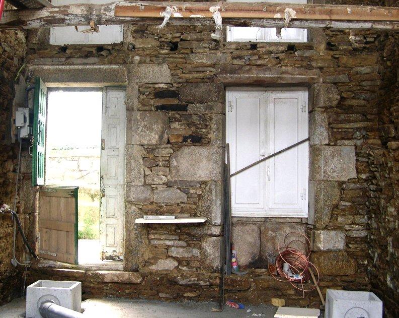 mampostería fachada huecos ventanas