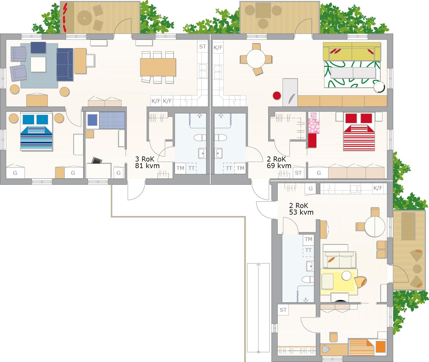 Boklok las casas modulares de ikea el blog de la urbana for Plantas de viviendas